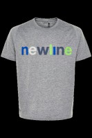 newline BLACK HEATHER LOGO TEE Grau