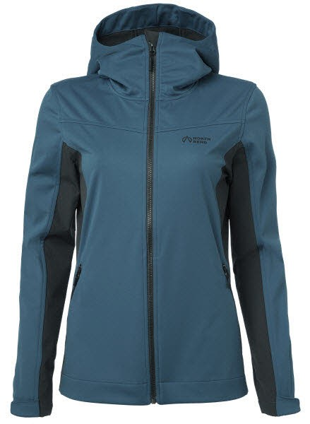 North Bend WANE Softshell Jacket Women Blau