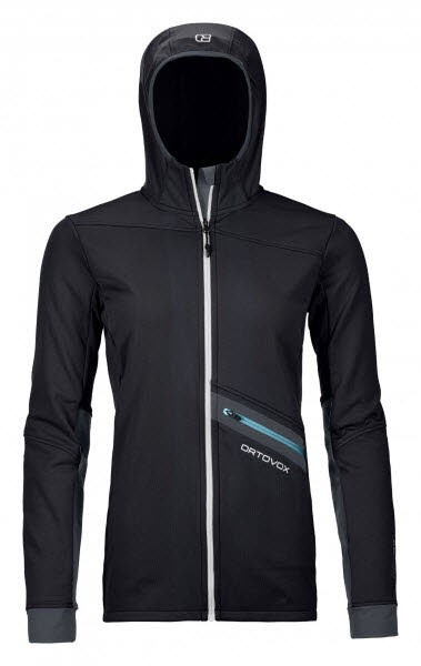 Ortovox FLEECE LIGHT TEC HOODY W Schwarz