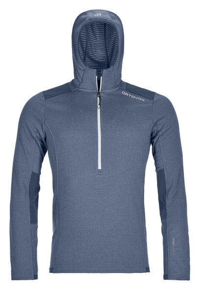 Ortovox FLEECE LIGHT GRID ZIP NECK HOODY M Blau - Bild 1