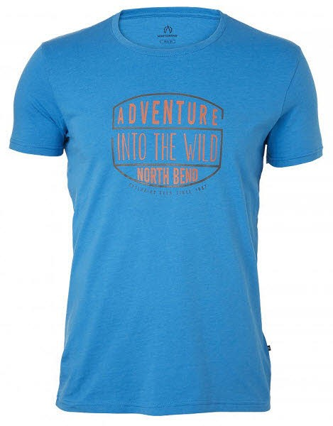 North Bend VERTICAL Tee Men Blau