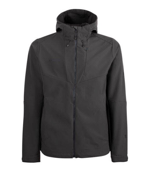 Mammut Sapuen SO Hooded Jacket Men Grau - Bild 1