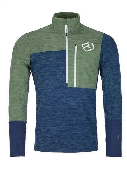 Ortovox FLEECE LIGHT ZIP NECK M Blau - Bild 1