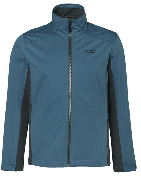 North Bend WANE Softshell Jacket Men Blau
