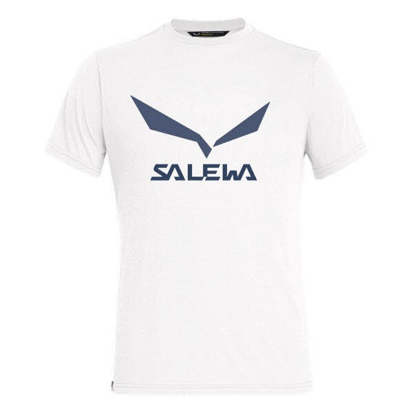 Salewa SOLIDLOGO DRI-REL M S/S TEE Weiß